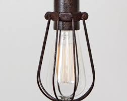 industrial cage lighting. CAGE ONLY Oval Wire Bulb Cage (Pendant Sold Separately) // Trouble Light Pendant Industrial Lighting