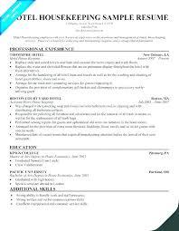 Housekeeping Resume Examples Impressive Housekeeper Resume Objective Housekeeping Yomm