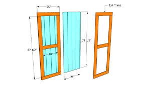 Barn Door Plans Diy Large Barn Doors On An Outdoor Shed Right Door Slides Over Fixed