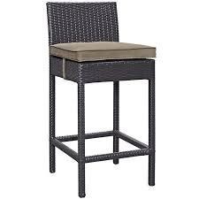 beige bar stools. Convene Outdoor Patio Fabric Bar Stool In Espresso Mocha Beige Stools