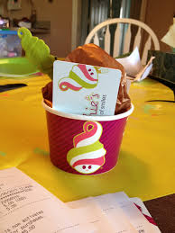 hoot designs gift cards from menchies experience gift cards cute way to give a gift card brand cup and spoon brown tissue paper