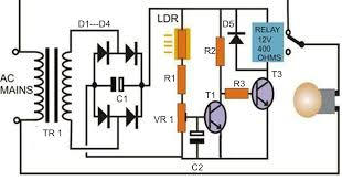 simple automatic street light system electronic circuit projects