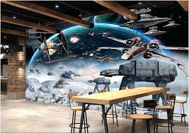 star wars wall mural custom mural photo wallpaper cartoon shock star wars picture room decoration painting star wars wall mural