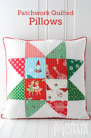 Patchwork Quilted Christmas Pillow Tutorial & Tutorial for Christmas Patchwork