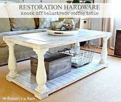 restoration hardware knock off barade coffee table