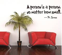 zooyoo e dr seuss a person s a person no matter how small wall art vinyl decals stickers es and sayings home art decor wall sticker decal love kids