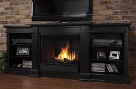 G1200 Real Flame Fresno Gel Fireplace and Media Console With Wood ...