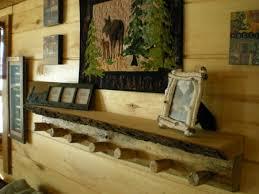Cabin Coat Rack Handmade Log Coat RackBark Shelf Combo Wood Coat RackShelf Combo 100