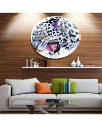 designart ferocious snow leopard face disc animalmetal circle wall art on leopard metal wall art with deals on designart ferocious snow leopard face disc animalmetal