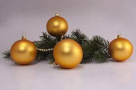 4 Große Weihnachtskugeln 10cm Gold Matt Uni Mundgeblasen Und Von Hand Lackiert