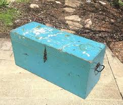 large wooden box with hinged lid wood tool box primitive tool chest hinged lid handles rustic large wooden