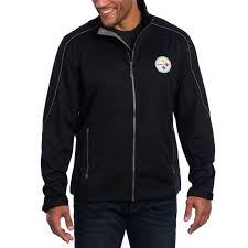 pittsburgh steelers cutter buck weathertec opening day softshell jacket