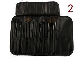 uk warehouse 12pcs black professional cosmetic brush kit makeup brushes set case make up brush sets makeup tool in makeup scissors from beauty health on