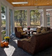 Sunroom Dining Room Mesmerizing Designs Ideas Comfy Sunroom Ideas With Brown Wicker Furniture And