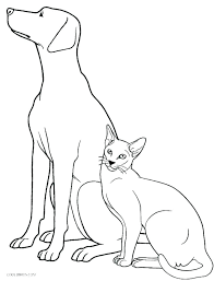 Cute Dog Coloring Pages Pagesdog Printable Dogs And Cats Littapescom
