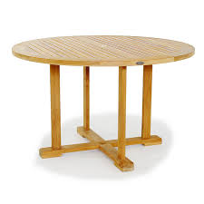 this highly functional 48 teak round table