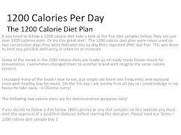 1200 Calorie Diet Chart 1200 Calories Per Day The 1200 Calorie Diet Plan