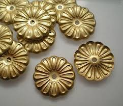 12 brass mirror rosettes no 9 brass