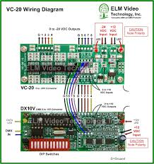 dmx 0 to 20 volt analog converter pcb elm video technology vc 20 wiring diagram and dx10v interconnections