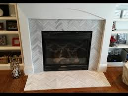 Image Tile Around Fireplace Surround Makeover Ascend Chevron Honed Tiles Youtube Fireplace Surround Makeover Ascend Chevron Honed Tiles Youtube