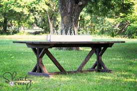 diy outdoor farmhouse table. DIY Dining Table Diy Outdoor Farmhouse