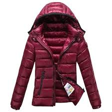Moncler Bady Winter Women Down Jacket Zip Hooded Dark Red,moncler italy,moncler  coats sale,officially authorized