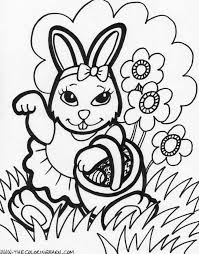 free coloring pages for easter printables