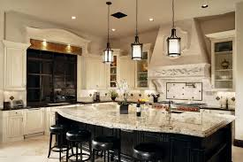 Kitchen Backsplash With Granite Countertops Amazing Traditional Kitchen With Breakfast Bar Snowfall Granite Countertop