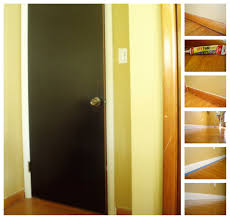 blackdoorcreamtrim i painted the door black and its trim cream