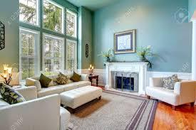 White Leather Living Room High Ceiling Aqua Living Room With White Leather Couch Ottaman