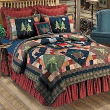 image of rustic quilt bedding sets