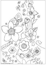 Small Picture Transmissionpress Spring Flowers Coloring Page Spring Flower