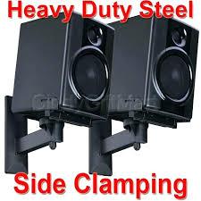 bookshelf speaker wall mount 2 pack steel large side clamping bookshelf speaker wall mount tilt
