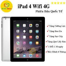 Máy Tính Bảng iPAD 4 (Wifi + 4G) 16Gb/ 32Gb/ 64Gb/ 128Gb - Zin Đẹp 99% -  Màn 9.7 Rentina Sắc Nét / Pin Cực Khỏe / Loa To chính hãng