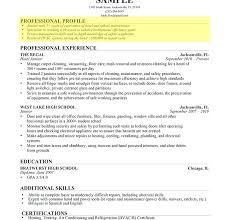 Resume With Profile Sample