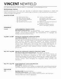 Voice Over Resume