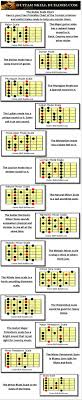 Guitar Note Scale Chart Free Printable Guitar Scales 14 Most Commonly Used Scales