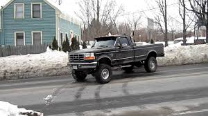 Lifted Ford F350 turbo diesel with stacks - YouTube