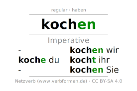 imperative of the verb kochen