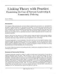 Short Essay On Leadership Pdf Linking Theory With Practice Examining The Case Of
