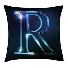 Elements Of A Good Cover Letter Gorgeous Amazon Ambesonne Letter R Throw Pillow Cushion Cover Writing