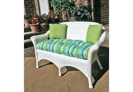 outdoor wicker loveseat cover white resin glider replacement cushions veranda with seat cushion home improvement stunning