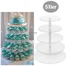 wedding cupcake stands. Unique Stands 5 Tier Acrylic CupCake Stand Toppers Tower Display Cake Wedding Party To Cupcake Stands N