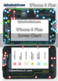 Iphone Screw Chart Iphone 6 Plus Magnetic Screw Chart Mat Cyberdocllc Iphone And Apple Products Hardware Repair Solutions