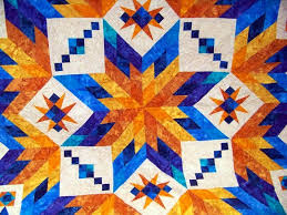 Attic Window Quilt Shop: HAPPY SCRAPERS MEET AT ATTIC WINDOW QUILT ... & This is a close up of Bev's quilt. Her brother is also interested in  astronomy which made Bev think he'd love all these various sized stars. Adamdwight.com