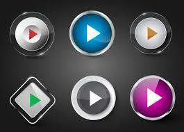Play Button Templates Shiny Colored Geometric Decor Eps Ai
