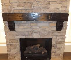 rustic mantel with corbels