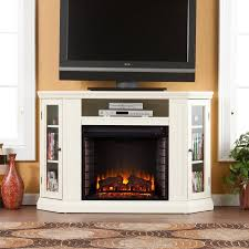 white fireplace tv stand sei claremont media console fireplace with tv