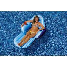 inflatable pool furniture. Convertible Solo Easy Chair Swimming Pool Lounge Inflatable Furniture T