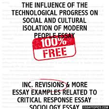 influence of the technological progress on social and cultural  the influence of the technological progress on social and cultural isolation of modern people essay